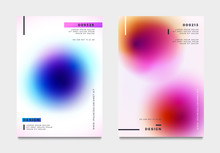 Abstract Gradient Poster And Cover Design. Vector Illustration.