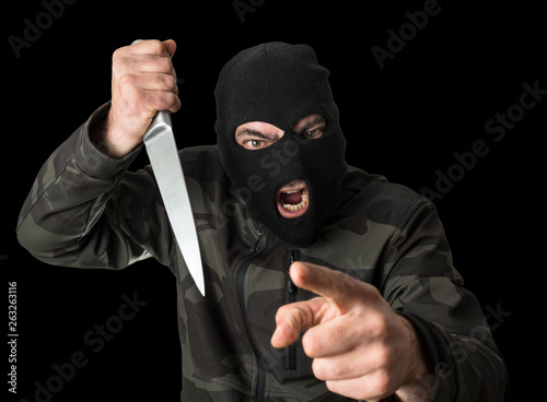 Asaltante con cuchillo Wallpaper Mural