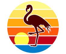 Back Lit Flamingo Silhouette A...