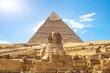 Shinx and pyramid