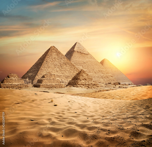 Pyramids in sand #263269759