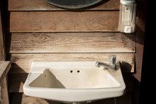The Old Sink In Vintage Style ...