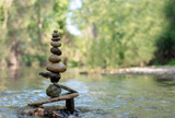 Fototapeta Kamienie - Stacking in the forest