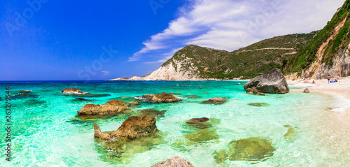 Best beaches of Greece - Petani in Kefalonia, ionian islands