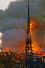 Notre Dame Paris Burning