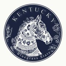 Kentucky. Tattoo And T-shirt D...