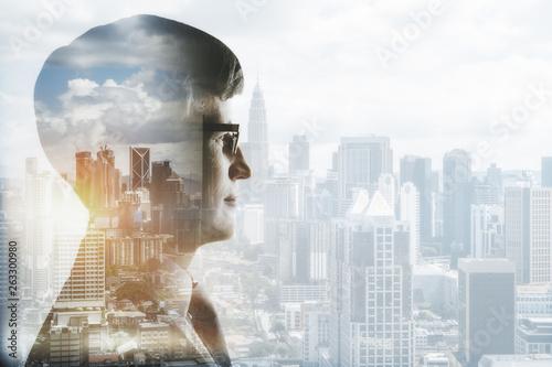 Fototapeta Research and future concept obraz na płótnie