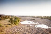 Dry Riverbed In Arid Region Of...