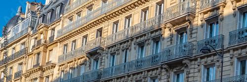 canvas print motiv - Pascale Gueret : Paris, beautiful building in the center, typical parisian street