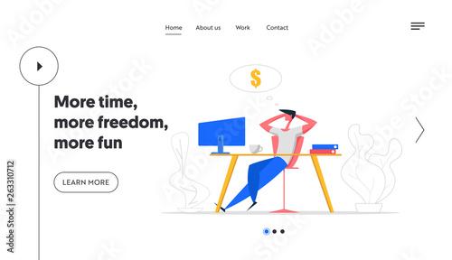 Photo  Finance Business Dreams Website Concept