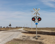 Railroad Crossing With Warning...