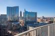 Skyline of Atlanta from balcony