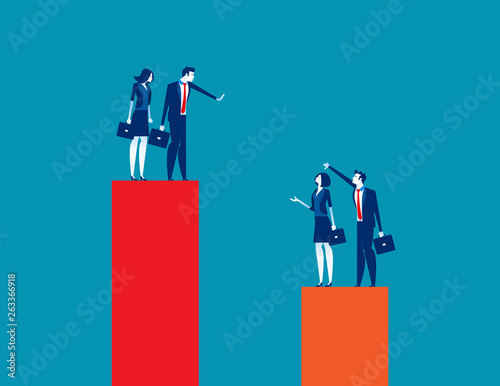 Tableau sur Toile Business team envy another people team