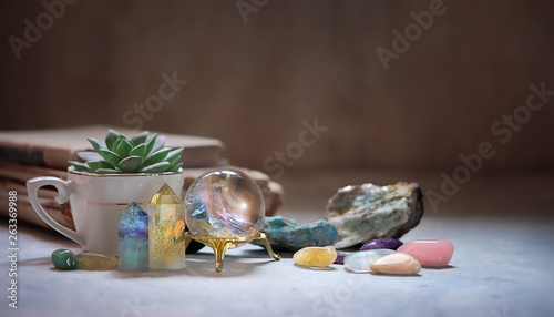 Fototapeta  gemstones minerals for relaxation and meditation
