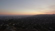 Los Angeles Sunset Aerial 07 Hills and City 4K