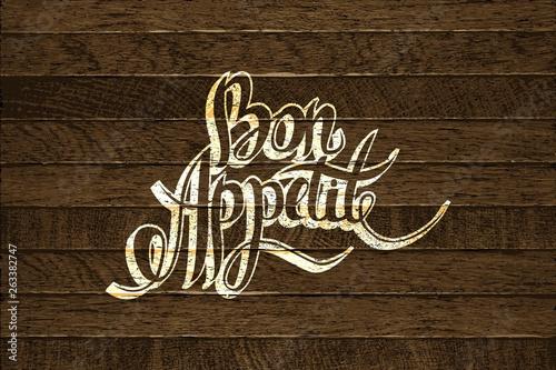 Photo Bon Appetit hand lettering