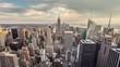 Manhattan New York City Daytime Empire State Building NYC Tilt 4K
