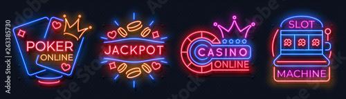 Fotografia Neon casino banners