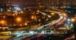 Night traffic time lapse in urban setting