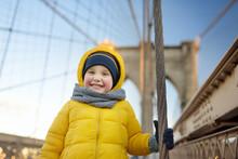 Cute Little Boy On Brooklyn Br...
