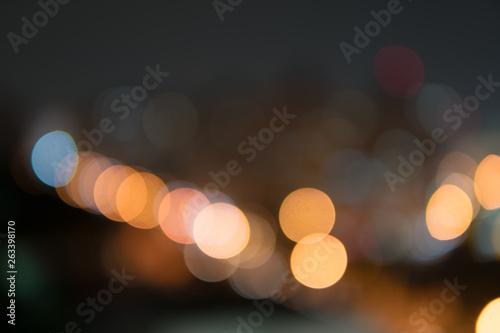 Fotografie, Obraz  Abstract bokeh night garden in city background