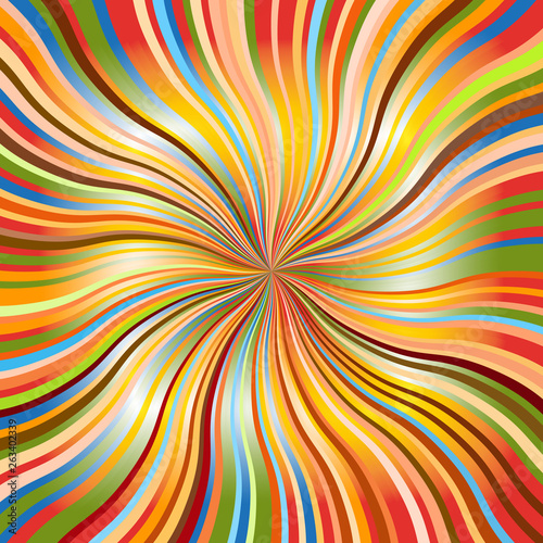 Wall Murals Psychedelic Rainbow abstract background with wavy sunbeams.