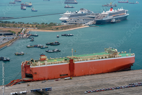 Close up of Car carrier ship - Buy this stock photo and