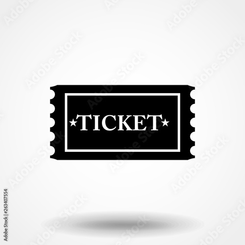 Fotografía  Ticket icon vector in trendy flat style isolated on grey background, for your web site design, app, logo, UI