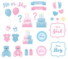 Gender Reveal Clipart With Ban...