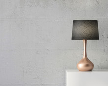 Stylish Table Lamp Mockup With...