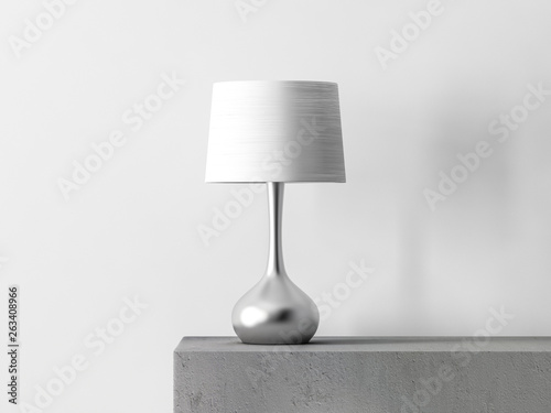 Fotografía Stylish table lamp in white room