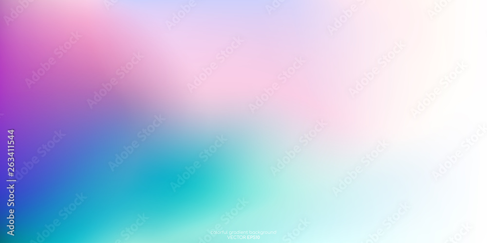 Vector Abstract Colorful Background Blurred Gradient Pastel