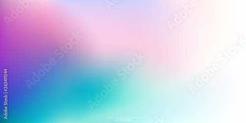 Vector abstract colorful background blurred gradient pastel color palette Canvas Print