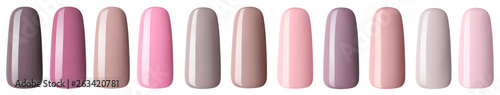 Nail polish in fashion multicolored pastel color Fototapet