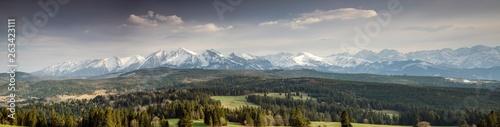 Fototapeta mountains panorama Tatr obraz