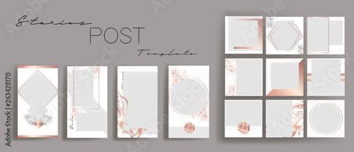 Fotografie, Obraz  Design backgrounds for social media banner
