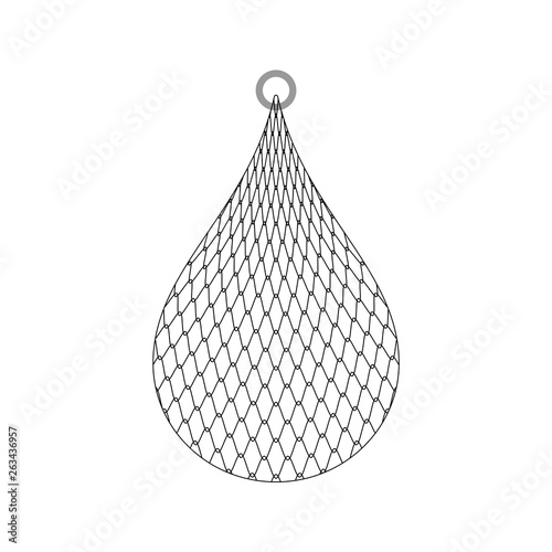 Obraz Fishing net isolated. fishnet cartoon vector illustration - fototapety do salonu