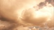 Time lapse Fluffy clouds float across the blue sky. UltraHD stock footage.