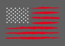 Vector Dirty Flag Of USA. Grunge American Flag.