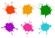Vector Colorful Paint Splatter...