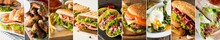 Photo Collage Of Various Fast Food Products