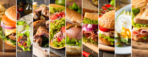 Photo collage of various fast food products © jeny_lk
