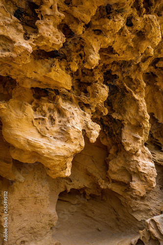 Sandstone, stone, yellow, natural formation.