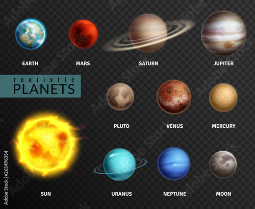 Fototapeta Realistic planets