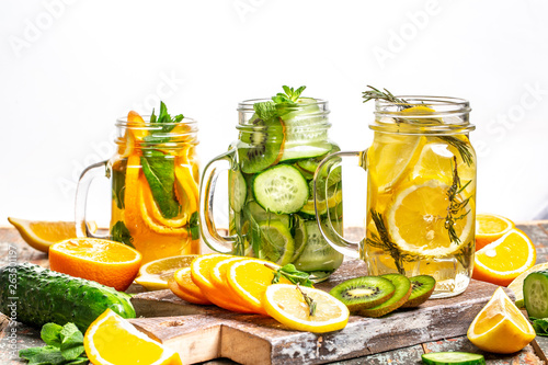 Homemade detox drink. diet healthy