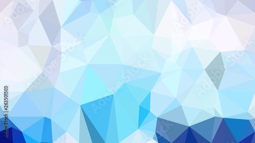 Fototapety, obrazy: Blue and White Low Poly Background Template