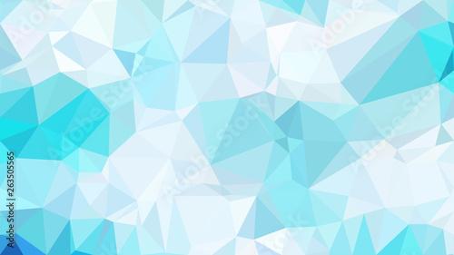 Fototapety, obrazy: Blue and White Polygon Pattern Background Vector Art