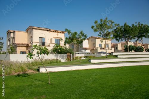 Foto op Plexiglas Stadion Luxury villa compound gated community residential development