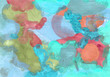 Colorful abstract background of gouache paint.