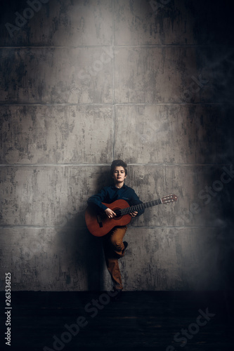 guitar and boy